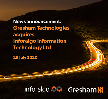 Gresham announces acquisition of Inforalgo to expand regulatory reporting capabilities