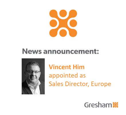 Gresham Technologiescontinues its focus oninternational growth withSeniorEuropeanSales appointment